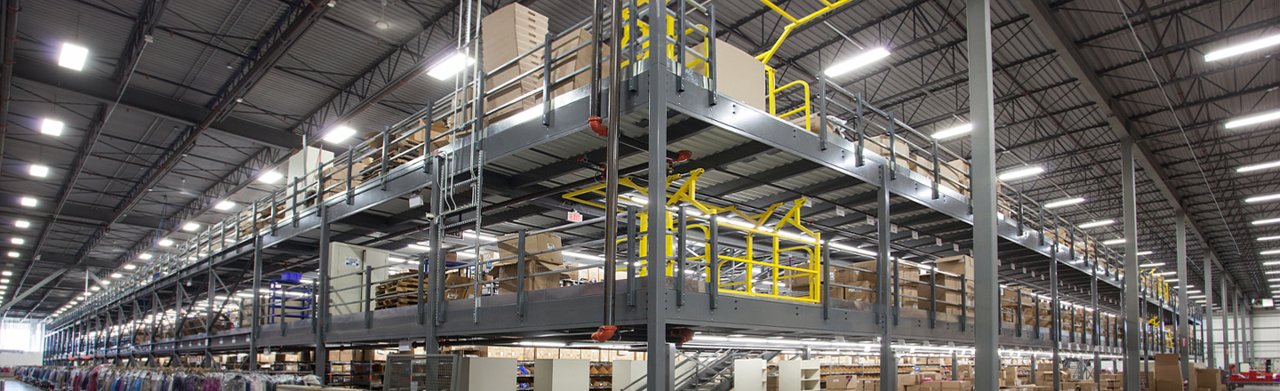 Structural Mezzanines Racked Out