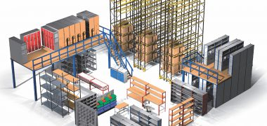 3D drawing of warehouse storage products