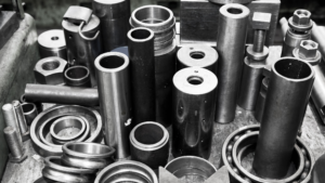 A box of different washers.